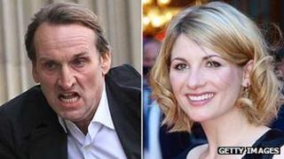 Christopher Eccleston and Jodie Whittaker