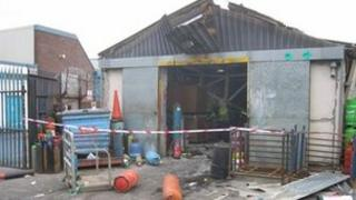 Explosion at Alma Street, St Helens