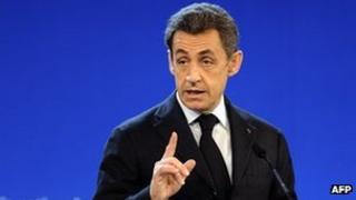 France's President Nicolas Sarkozy, 13 Feb 12