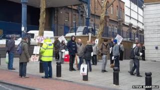 Protesters in Brighton. Photo: Steve Banfield