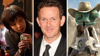 Hugo scene, John Logan, and Rango scene