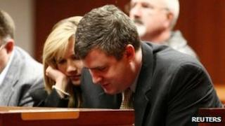 Gabe Watson waits for jury selection to begin on 13 February 2012