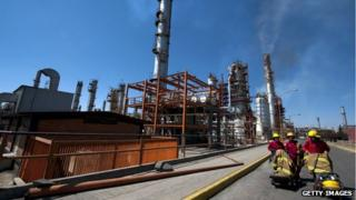 Mexican oil refinery