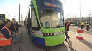 New Croydon tram