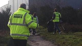 Litter-picking duty in Mansfield