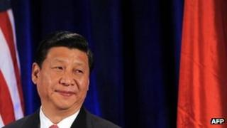 Xi Jinping attending a luncheon with leaders from the private and public sectors in Washington, DC, 15 February 2012