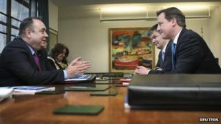 Alex Salmond in talks with David Cameron