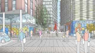 Artist's impression of Station Hill development in Reading
