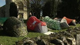 Tents in St Mary the Virgin church in Prittlewell