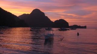 Sunset at Palawan Beach