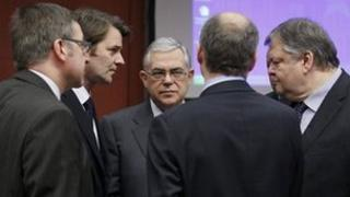 Eurozone finance ministers in Brussels (20 Feb 2012)