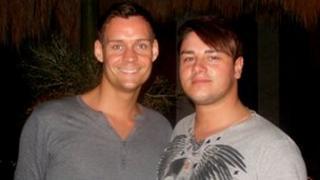Stuart Price and his partner Lee Rennison