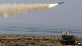 Iranian missile fired during military exercise. 2 Jan 2012