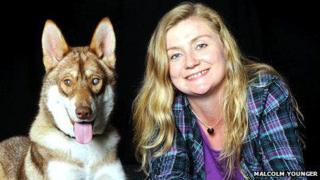Nicola Ritchie and dog [Pic: Malcolm Younger]