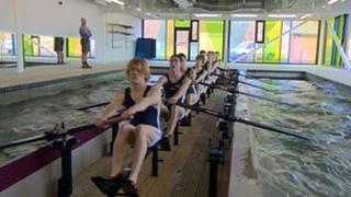 Durham University rowing tank