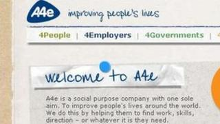 A4e website detail