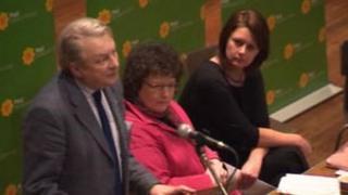 Plaid Cymru leadership candidates: L-R: Dafydd Elis Thomas, Elin Jones, Leanne Wood