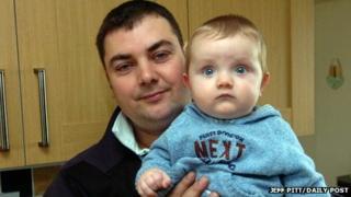 Berwyn Griffiths with son Harri