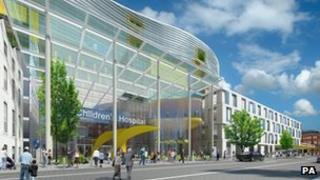 Artist impression of the proposed National Children's Hospital in Dublin