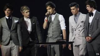 One Direction at Tuesday night's Brits