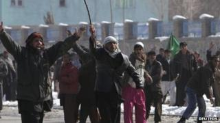 Anti-US protest in Kabul