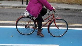 Cycle lane in London
