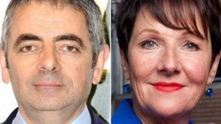 Rowan Atkinson and Miriam O'Reilly