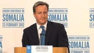 David Cameron speaks at the London Somalia conference