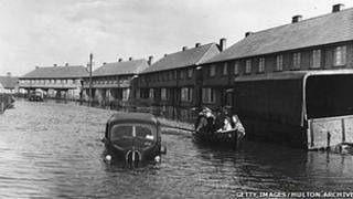 Canvey along with much of the east coast of England was badly hit by the floods