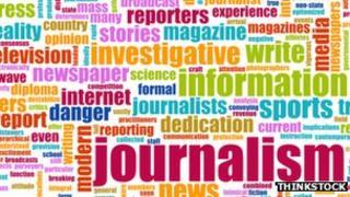 Journalism word cloud