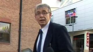 Malcolm Green outside Derby Crown Court