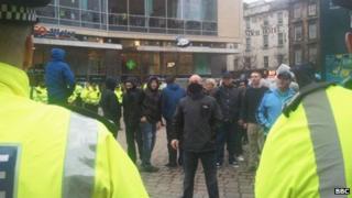 Scottish Defence League demonstration