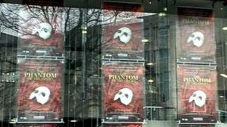 Phantom of the Opera posters at Theatre Royal