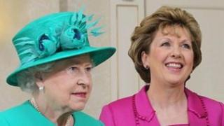 Queen Elizabeth II with the then Irish president Mary McAleese in Dublin