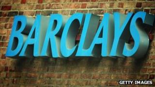 A sign for a branch of Barclays Bank