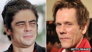 Benicio Del Toro and Kevin Bacon