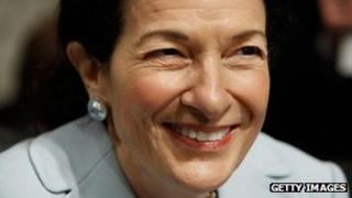 File photo of Senator Olympia Snowe, 13 October 2009