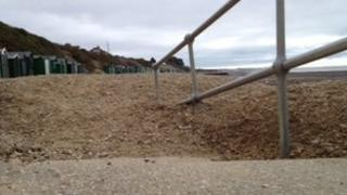Hill Head Beach after gravel was dumped there