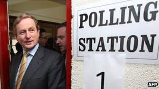 Irish PM Enda Kenny during election, 25 Feb 11