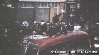 Bus parade in 1972 (pic: Staffordshire Film Archive)