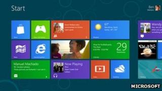 Microsoft Windows 8 interface