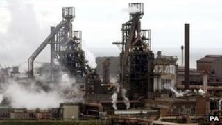 Tata steelworks in Port Talbot