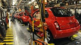 Nissan production line in Sunderland