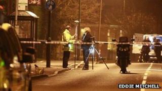 Scene of motorcycle accident in Bursledon