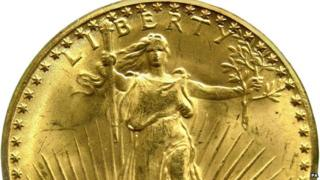 Double eagle 1933 gold coin