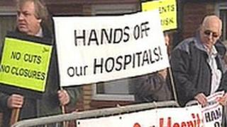 Campaigners battling to save the two hospitals