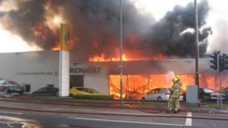 Fire at Evans Halshaw