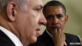 Barack Obama and Benjamin Netanyahu meet at the White House in Washington (July 6, 2010)