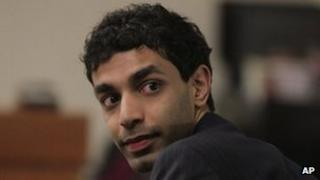 Dharun Ravi in court in New Brunswick, New Jersey, on 1 March 2012