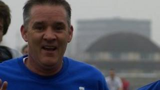 Darren Rathband at the Newcastle Parkrun